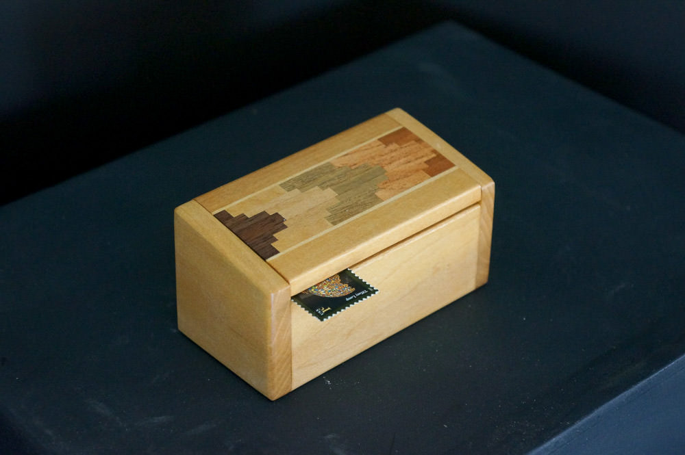 Stamp and paper clip box