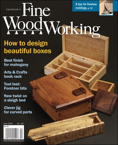 Boxes on cover of Fine Woocworking Magazine